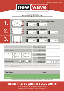 Manufacturing Requirements