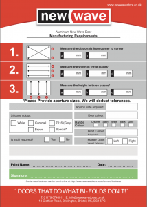New Wave Manufacturing Requirements